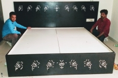 Wall-Inlay-Mother-of-Pulse-bed-Inlay-brass-inlay-cabinet